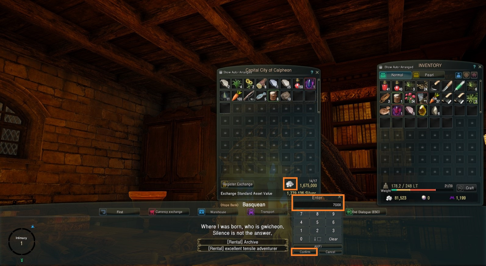 How to find and use the warehouse/storage   BDFoundry