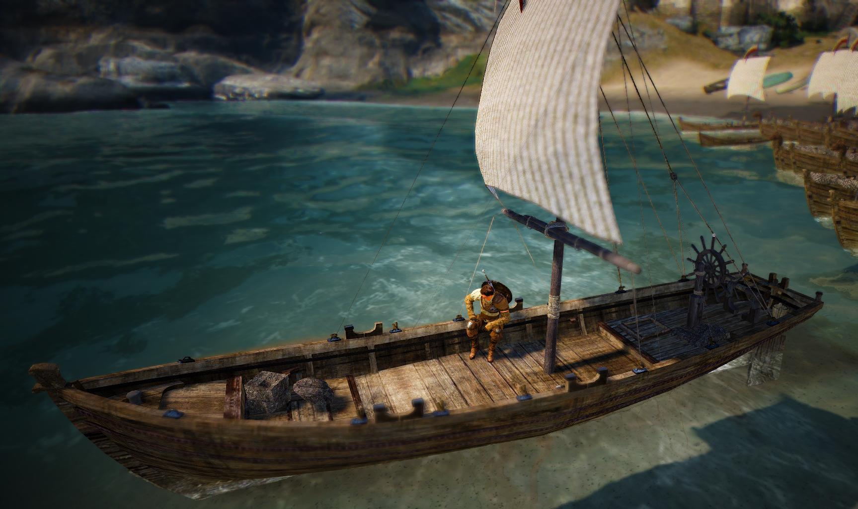 рыбацкое судно в black desert