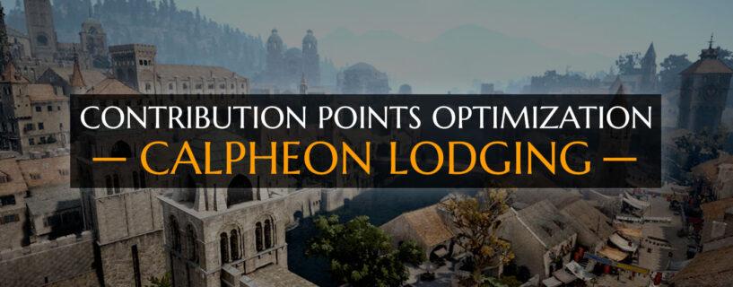 CP Optimization [Calpheon Lodging]
