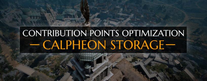 CP Optimization [Calpheon Storage]