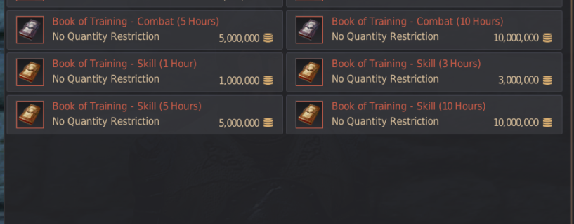 Book of Training – AFK Leveling guide